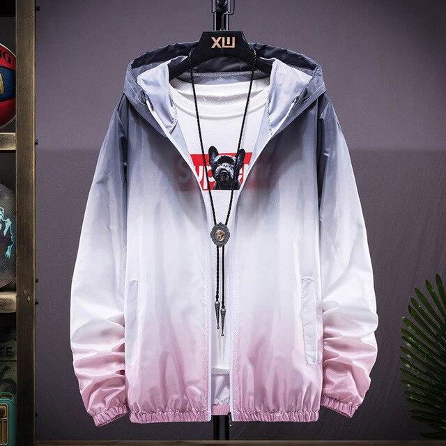 Plus Size 6XL 7XL New Spring Summer Bomber Jacket Men Women Casual Solid Windbreaker Zipper Thin Hooded Coat Outwear Male Jacket 5