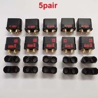 5Pairs DIY Modell EC8 Anti-Funken Stecker Männlich Weiblich Kugel Anschlüsse w/ 8mm Gold Überzogene Stecker für RC Batterie ESC Ladegerät Blei