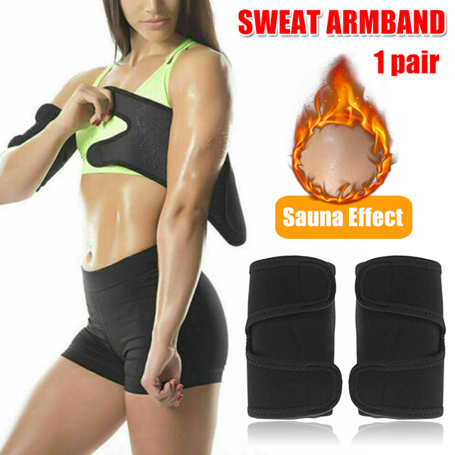 1 Pair Arm Trimmer Sweat Sauna Belt Shaper Fat Burners Body Slimmer Cincher Trainer Sports Arm Warmers Drop Shipping