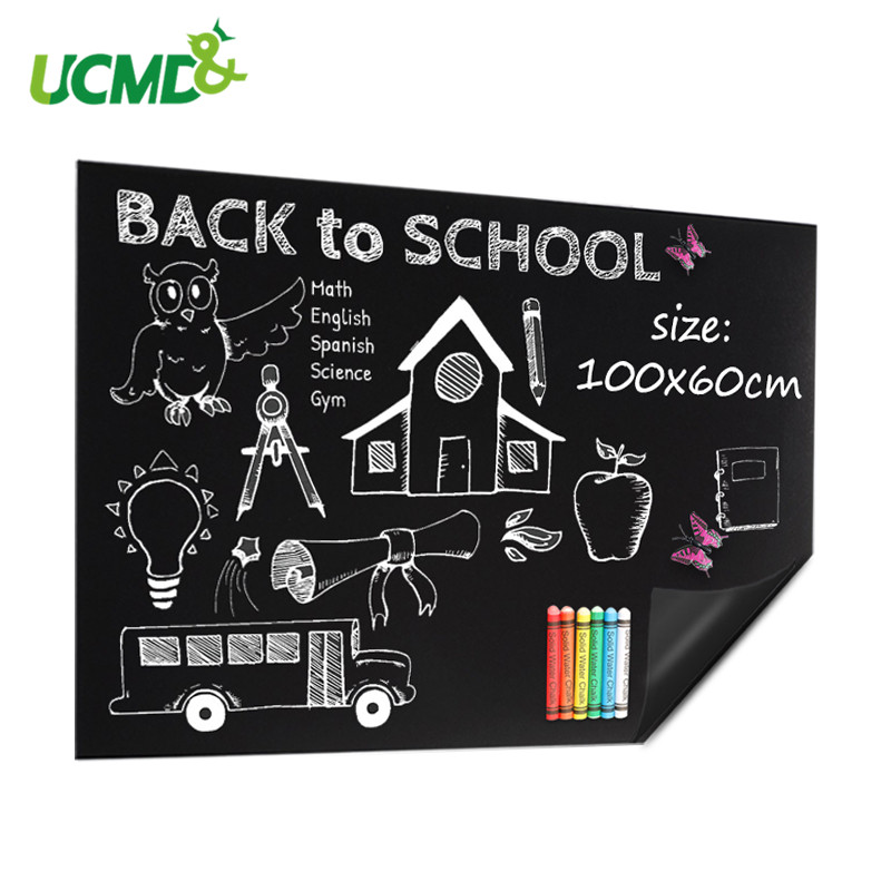 200x50cm Waterproof Blackboard Vinyl Draw Sticker Dustless Chalk Learning Writing Drawing Graffiti Board Office School Supplies
