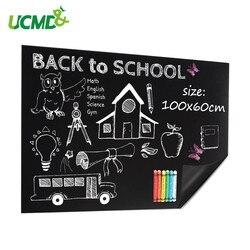 200x50cm Waterproof Blackboard Vinyl Draw Sticker Dustless Chalk Learning Writing Drawing Graffiti Board Office School Supplies