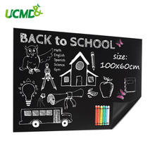 100 cm * 60 cm flexible chalkboard soft blackboard for kids doodle graffiti drawing board