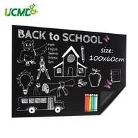 Magnetic Soft Chalkboard Blackboard for Chalk Writing Drawing Painting Doodle Board Kids Room Decor Decal Sticker 100 * 60 Cm