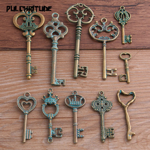 11 styles 2-10pcs Mix Green Bronze Metal Zinc Alloy Key Charms Fit Jewelry Medical Plant Pendant Charms Makings