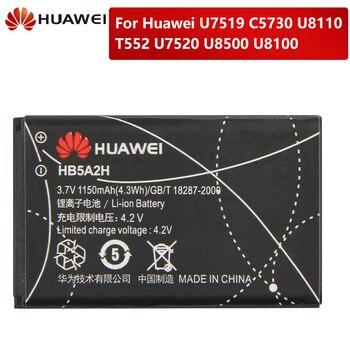 цена на Original Replacement Battery HB5A2H For Huawei U7519 C5730 U8110 U8100 T552 U7520 U8500 Authentic Battery 1150mAh