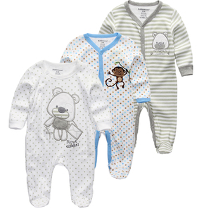Image 4 - Newborn Baby winter clothes 2/3pcs baby boys girls rompers long Sleeve clothing roupas infantis menino Overalls Costumes