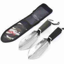 De acero pala de jardín con llave al aire libre multifuncional pala de la Armada militar supervivencia Spade acampada, jardín herramienta