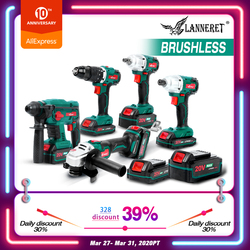 LANNERET Brushless Elettrico Angle Grinder Cordless Cacciavite Cordless Chiave 20V Batteria Grinder 4.0Ah Cordless Smerigliatrice Angolare