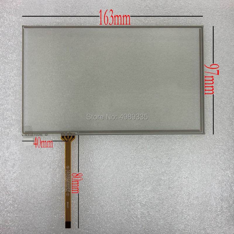 7 Inch Resistive Touch Screen Panel 4 Line ST07026 For Car DVD GPS Navigation Handheld Device Touch Screen 163X97mm