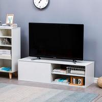 Tv ständer Tv Schrank Weiß Wohnzimmer Möbel Moderne Tv Tisch Unterhaltung Monitor Stehen Flach Bildschirm Monitor Riser Konsole auf