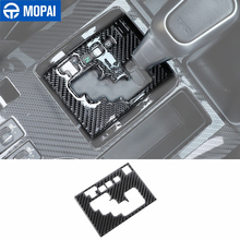 MOPAI Carbon Fiber Stickers for Toyota 4Runner 2010+ Car Gear Shift Panel Decoration Accessories for Toyota 4Runner 2010+