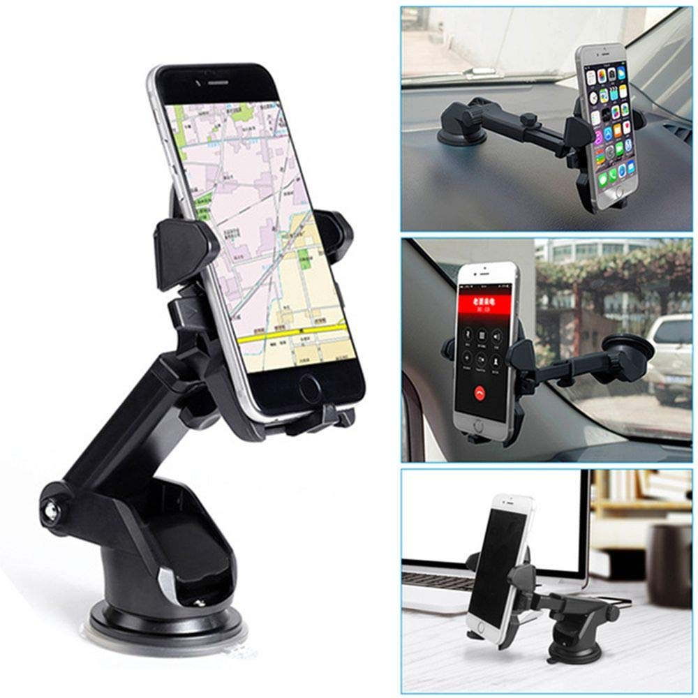360° Rotations Adjustable Car Holder Sucker Support Windshield Mount Bracket For Less Than 6 Inch Mobile Cell Phone IPhone