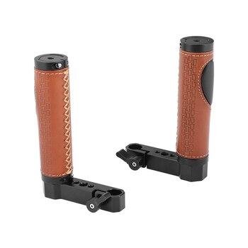 CAMVATE 15 мм стержень рукоятка с кожаным покрытием L Тип для монитора клетка Rig (пара) C2448