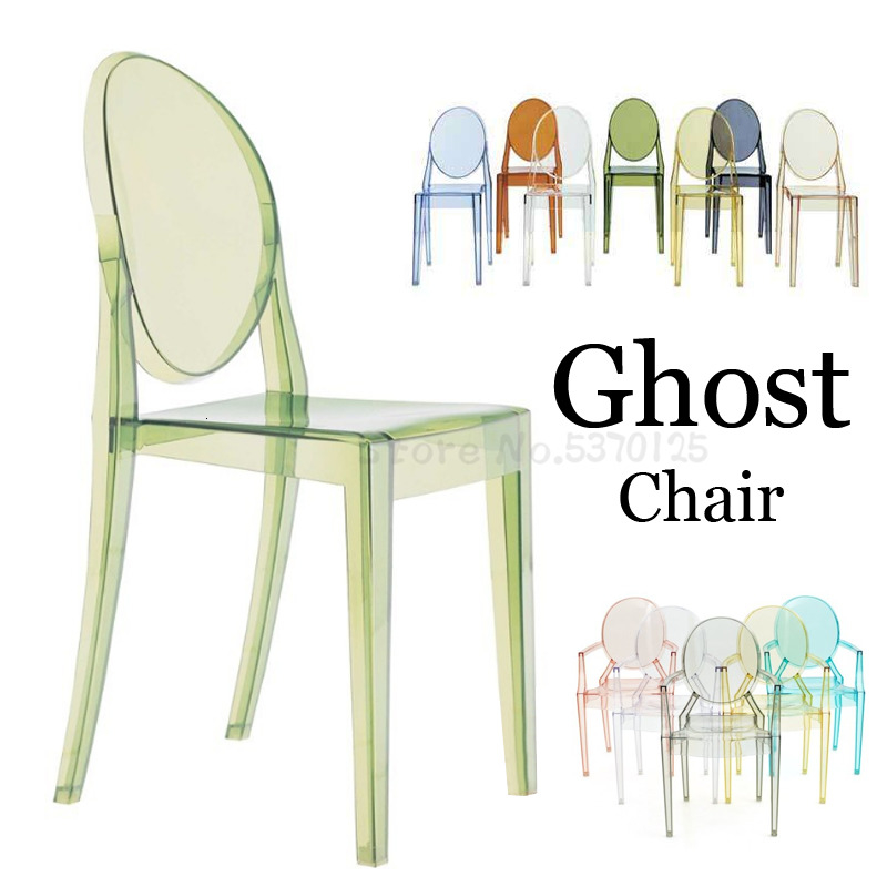 Creative Transparent Chair ACRYLIC CHAIR Personality Devil Chair Ghost Chair Hotel Plastic Dining Chair