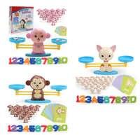 Mathematik Spiel spiel Bord Spielzeug Affe Ausgleich Skala Anzahl Balance Aufklärung Digital Addition und Subtraktion Mathematik Waagen Spielzeug