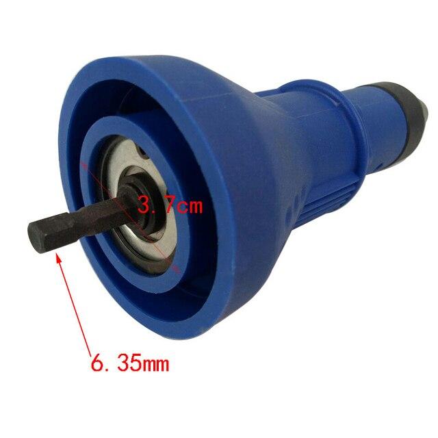 Electric Rivet Nut Gun Drill Adapter Cordless Riveting Drill Adaptor Insert Nut Tool Riveting Drill Adapter