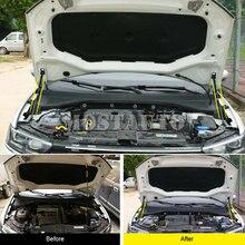 Para Volkswagen VW T-Roc 2017-2019 negro capó del motor Shock puntal elevador de amortiguadores 2 uds accesorios del coche Interior decoración de coche Trim