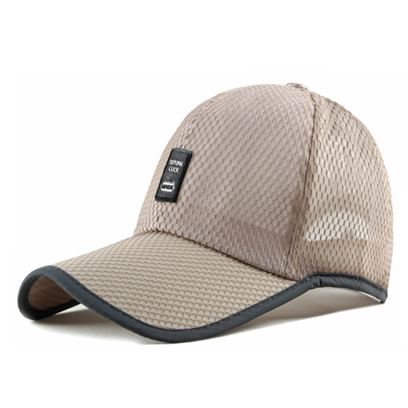 BISONJS 2020 новая классическая вышитая Мужская сетчатая бейсбольная кепка, уличная летняя бейсболка, регулируемая дышащая длинная Кепка От Сол...