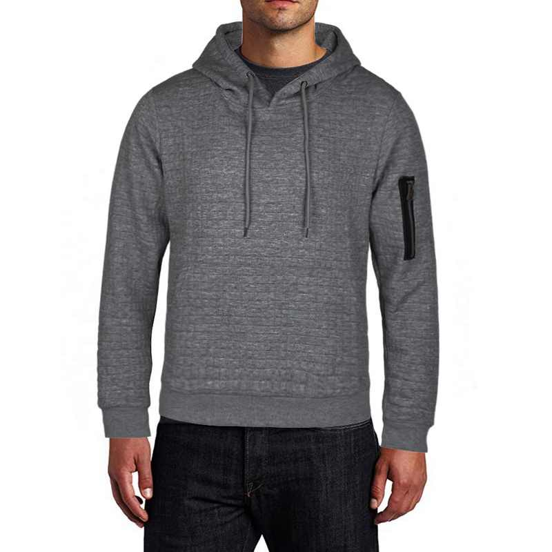 Mannen Sport Casual Wear Rits Mode Tij Effen Hoodies Fleece Jas Herfst sweatshirts Herfst Winter Jas S-4XL