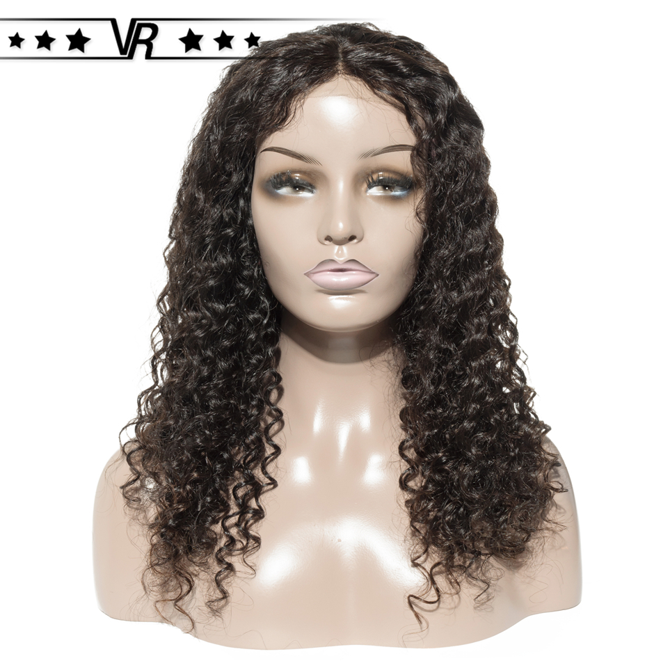 Deep Wave Wig Brazilian Lace Front Human Hair Wigs 4x4 130%-200% Density Middle Part