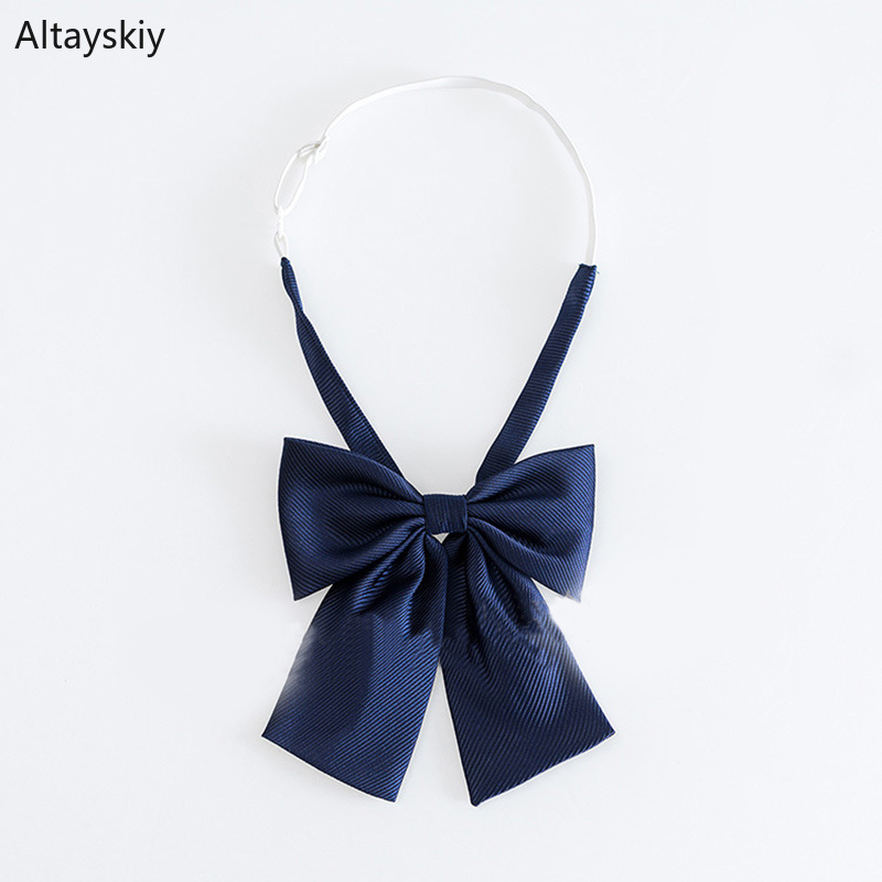 Ties Women Solid Striped Printing Womens Bows Tie All-match Uniform School Students Simple Trendy Formal Elegant Ladies Bow Chic