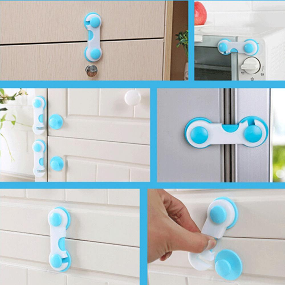 5PCS Baby Child Kid Box Drawer Cupboard Cabinet Wardrobe Door Fridge Safe Locks Children Protection Safety Plastic Lock