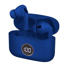 Dual Pod Earbuds Lcd COOL AIR PRO Stereo Bluetooth headsets Blue