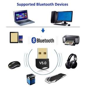 Image 4 - Kebidumei usb adaptador bluetooth v5.0 modo duplo sem fio bluetooth dongles música receptor de som adaptador transmissor bluetooth