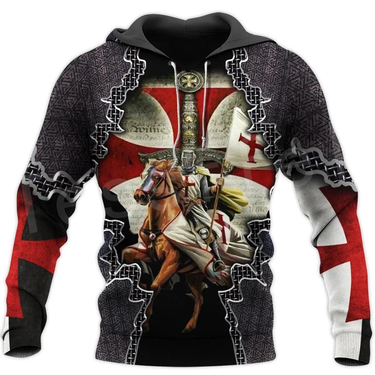 Tessffel Knight Templar Costume Armor Pullover NewFashion Harajuku Streetwear 3DPrint Unisex Zipper/Hoodies/Sweatshirt/Jacket 14