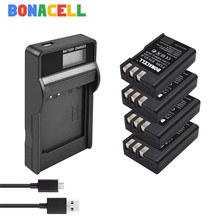BONACELL EN-EL9 EN EL9 EN-EL9a EL9a camera Battery + USB LCD Charger For Nikon D40 D60 D40X D5000 D3000 Camera