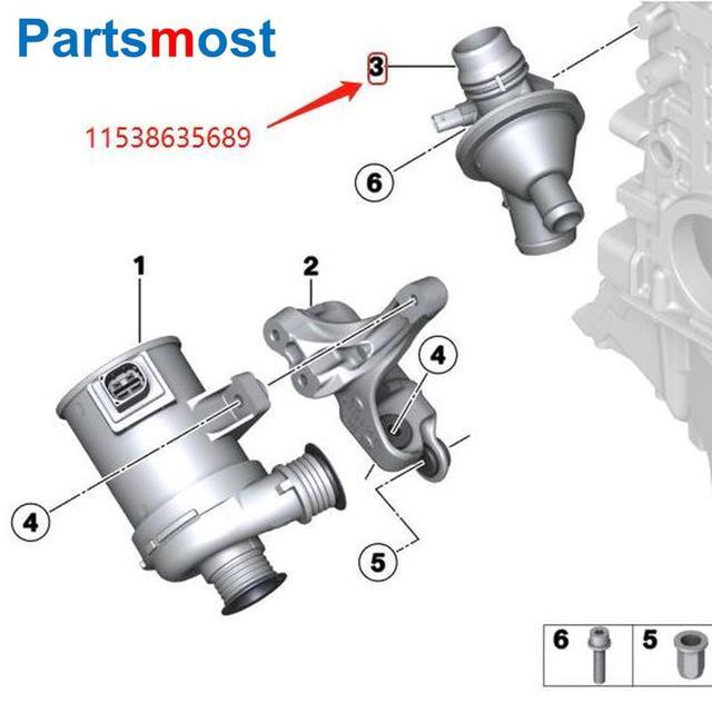 Boîtier de THERMOSTAT pour BMW F20 F22 F30 série 3 F32 F10 X1 X3 F25 X5 E89 Z4 THERMOSTAT de liquide de refroidissement TM25 108 11538648791 11538635689