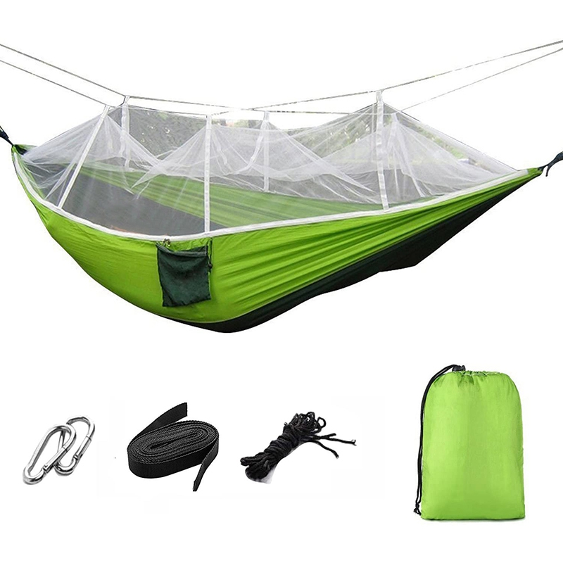 Portable Foldable Double Camping Hammock Mosquito Net Tree Hammocks Tent Travel Bed For Hiking Camping