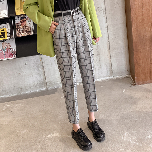 Casual Plaid Trousers 2