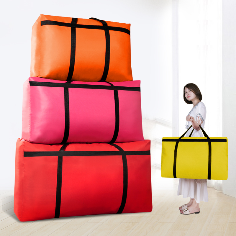 Large-capacity Canvas Moving House Luggage Clothes Storage Portable Extra Large Men's Travel Bag Quilt Big Bag