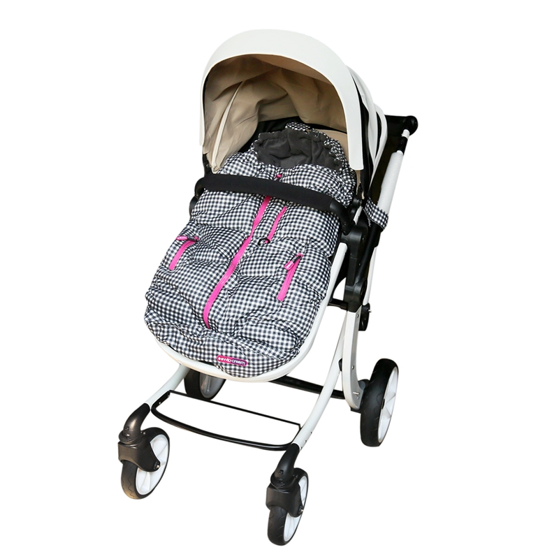 Детский спальный мешок, зимний мешок для коляски, теплый водонепроницаемый плотный конверт для коляски, детский спальный мешок slaapzak для коляски couchage - Цвет: BK GINGAM