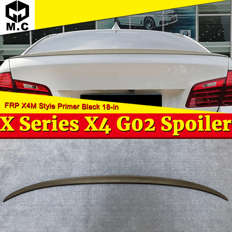 Bmw X4 G02 XM 外観カモノハシトランク翼 Frp 未塗装黒 M スタイル G02 X4 X4M リアディフューザー蓋スポイラー羽 18 イン