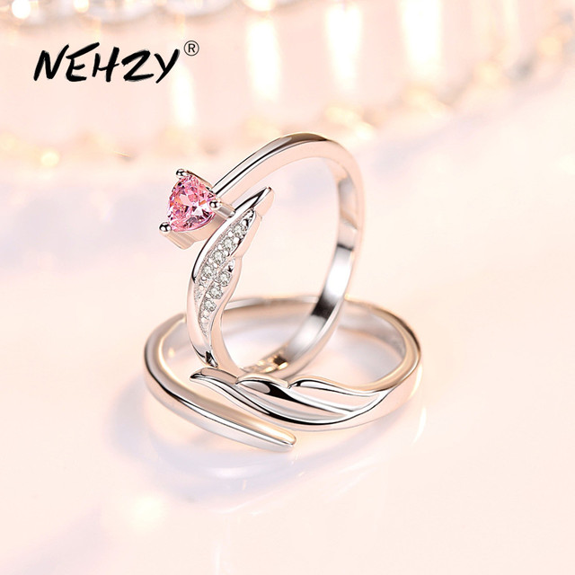 NEHZY 925 sterling silver new jewelry fashion woman opening ring anniversary wedding anniversary wedding engagement couple ring 1
