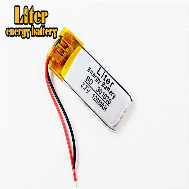 Auricolare Bluetooth batteria 301030 3.7V 120MAH ai polimeri di litio della batteria 301230 piccolo giocattolo di registrazione del suono penna