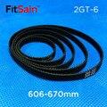 Fitsain -- 2gt 606-670mm largura da correia de borracha 6mm correia dentada gt2 correia transportadora anel de correia com correia de borracha
