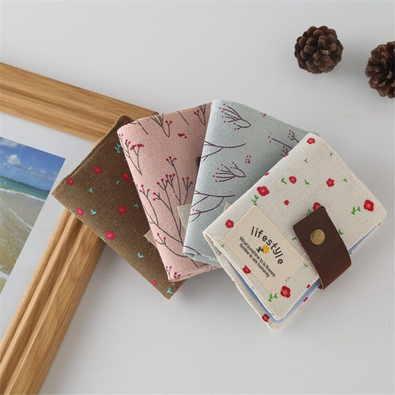 Creative Canvas Card Package Floral Pasture Pattern Cloth Credit Card Holder /business Card Holder Women's Cardholders Bag New