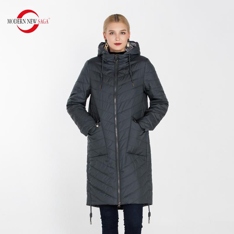 MODERN NEW SAGA 2020 Women Coat Long Jacket Autumn Cotton Padded Coat Parka Women Quilted Coat Overcoat Plus Size Ladies Coats