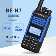 2020 Real 10W BaoFeng BF-H7 High Power Walkie Talkie 10KM Dual Band Portable CB Ham Radio BF H7 FM Transceiver Amateur Intercom