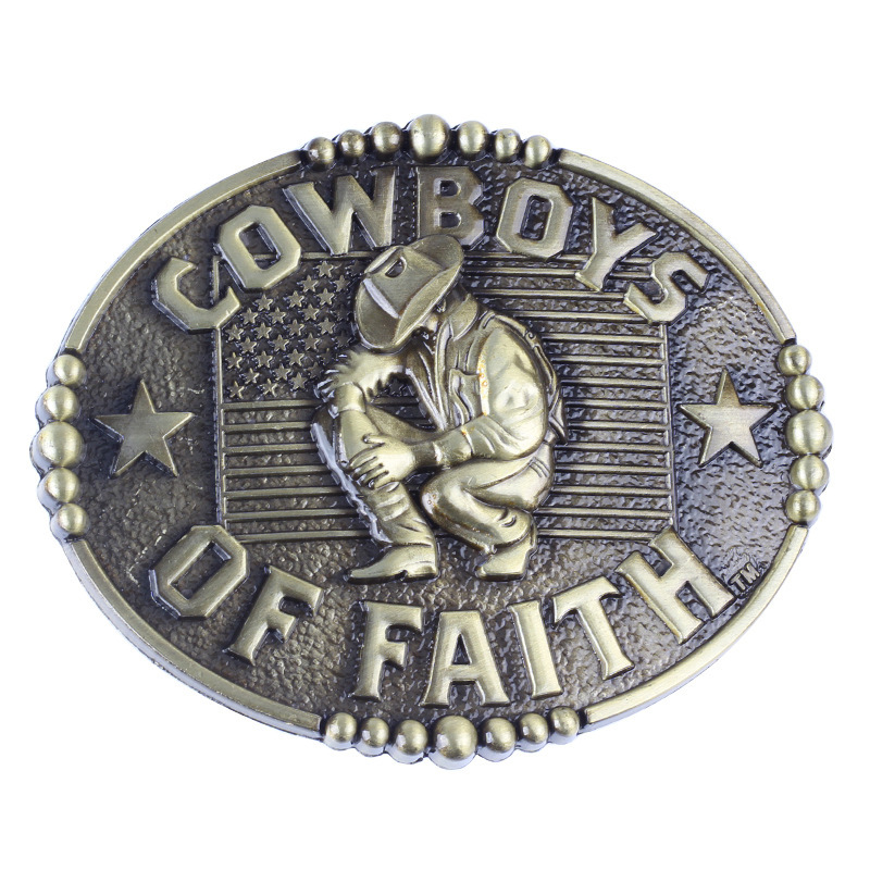 Flag Metal Belt Buckles Head Cowboys  Fit 4cm Wide Belt Men Cowboy Western