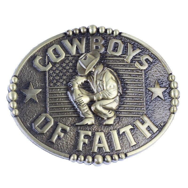 Flag Metal Belt Buckles Head Cowboys  Fit 4cm Wide Belt Men Cowboy Western