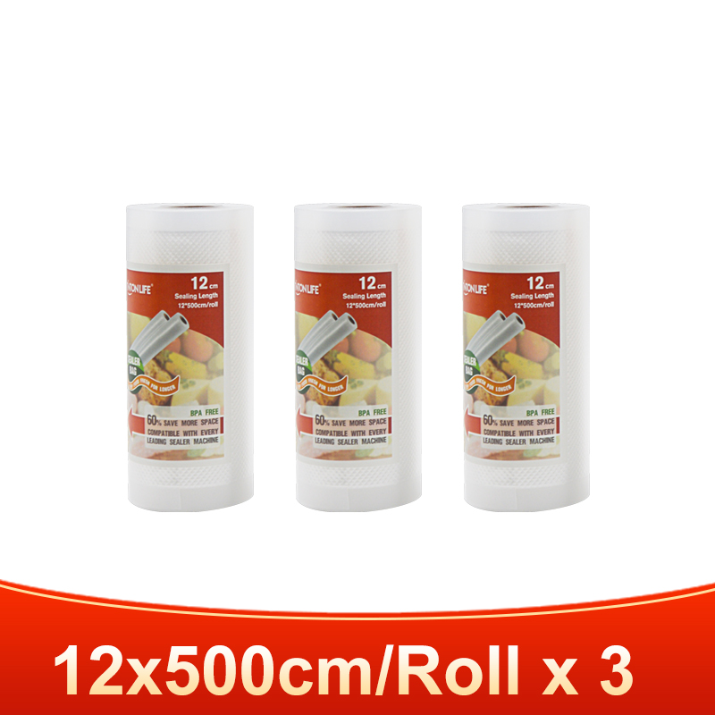 3 rolls 12x500cm-TINTON LIFE vacuum bags for food Fresh Long Keeping 12+15+20+25+28cm*500cm Rolls/Lot bags