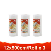3 rolls 12x500cm-TINTON LIFE vacuum bags for food Fresh Long Keeping 12+15+20+25+28cm*500cm Rolls/Lot bags