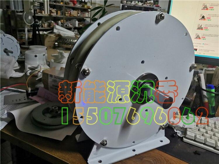 2000W High Power Disc Coreless Generator High Efficiency Permanent Magnet Low Speed Low Resistance