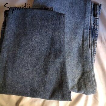 gray blue high waist jeans woman   5