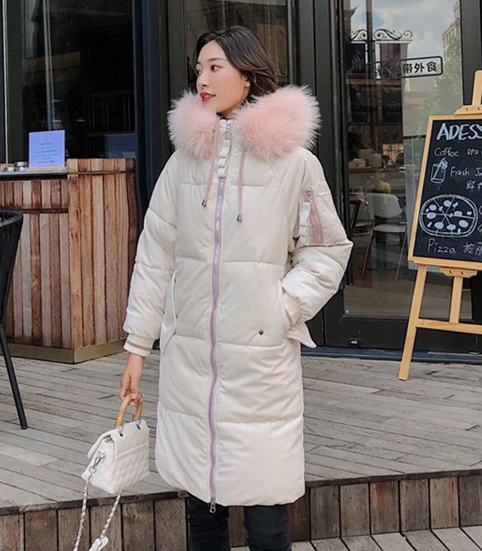 2019 High Quality Winter Jacket Women Velvet Fabric Hooded Thicken Fur_A9_10