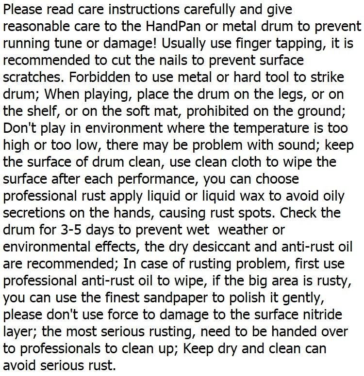 d menor liga handwork handpan mão-feita amostra